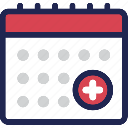 calendar, date, day, event, medical, schedule, treatment icon