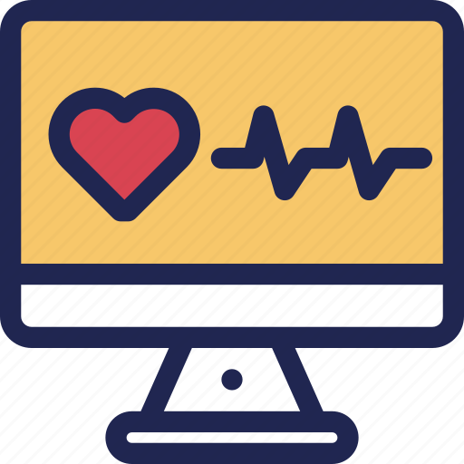 clinic, hospital, medical, monitor, sign, treatment, vital icon