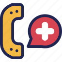 call, care, customer, hospital, medical, phone, telephone icon