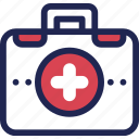 aid, box, care, first, hospital, medical, medicine icon