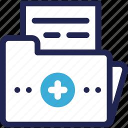 clinic, data, folder, hospital, medical, record icon