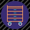 cart, drawer, medical, supplies