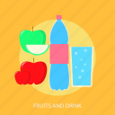 alcohol, beverage, cup, drink, fruits, glass icon