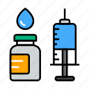 injection, syringe, vaccine icon