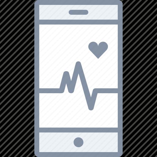 health, heart, hospital, medical, mobile, monitor, pulse icon