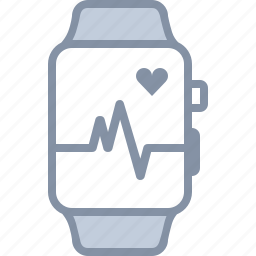 health, heart, hospital, medical, monitor, pulse, watch icon
