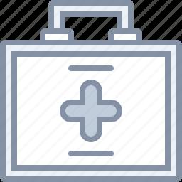 emergency, health, hospital, injury, kit, medical icon