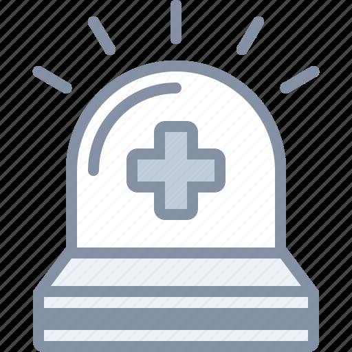 ambulance, emergency, health, hospital, medical, siren icon