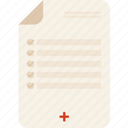 and, checking, clipboard, medical, report, tools, utensils icon