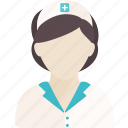 assistance, hospital, illness, medical, nurse, people icon