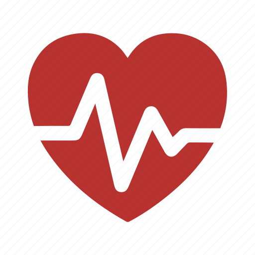 clinic, doctor, heart, hospital, pulsation, pulse, rate icon
