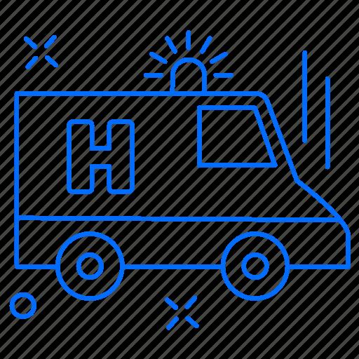 ambulance, emergency, health, medical icon