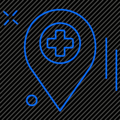 health, hospital, medical, navigation icon