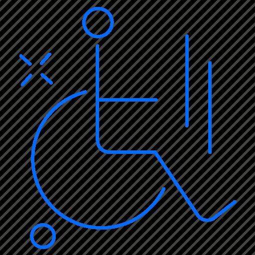 chair, health, medical, wheel icon
