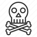 bone, danger, death, die, hospital, medical, skull icon