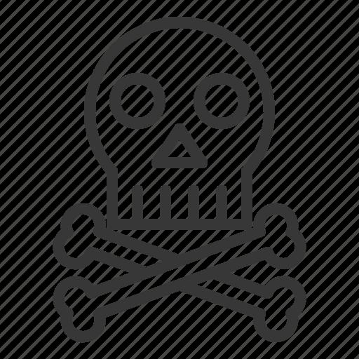bone, danger, death, die, hospital, medical, skull icon