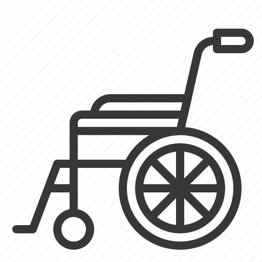chair, disabled, hospital, medical, wheelchair icon