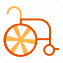 care, chair, health, hospital, medical, wheel icon