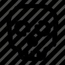 brain, head, horror, scary, skull icon