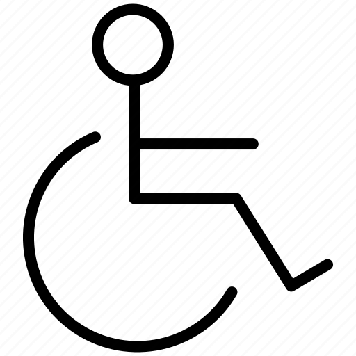 chair, damage, damaged, disable, disabled, handicap, help, invalid, patient, person, problem, social, toilet, transportation, wheel, wheelchair icon