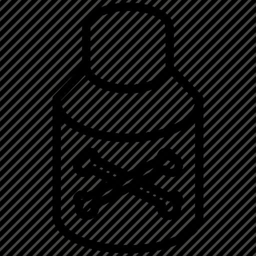 alarm, alert, ambulance, analysis, attention, bottle, caution, chemical, chemistry, cross, danger, death, doctor, drink, drug, flask, food, glass, hazard, health, healthcare, hospital, lab, medical, medicine, oil, pharmacy, phial, poison, safety, skull, tools, toxic, trash, vial, warning, water icon