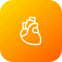 breath, cardiology, heart, life, midical, organ icon