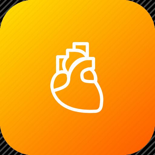 breath, cardiology, heart, life, midical, organ icon