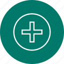 clinic, health, healthcare, hospital, medical, sign, treatment icon