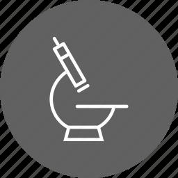 bacterium, experiment, laboratory, microscope, research icon