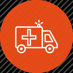 ambulance, emergency, medical, treatment icon