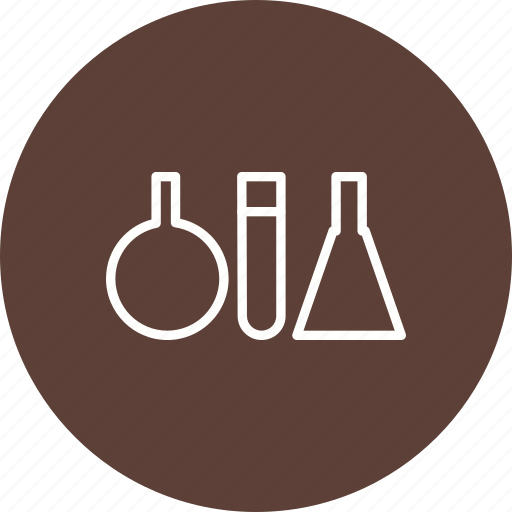 experiment, flask, lab, test tubes icon