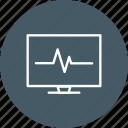ecg, ecg monitor, heart beat, pulse rate icon