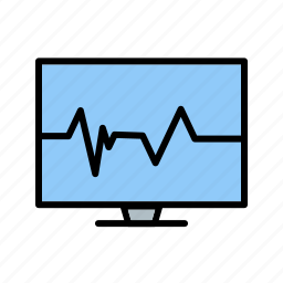 ecg, ecg monitor, heart beat, pulse rate icon