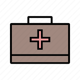 aid box, emergency, first aid, first aid box icon