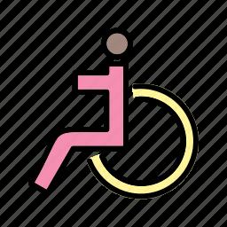 handicap, handicapped, wheel chair icon