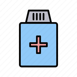 bottle, drugs, health, healthcare, medicine, pills, treatment icon