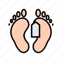 deadbody, label, sign, tag, toe icon