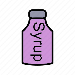 medical, pills, syrup bottle icon