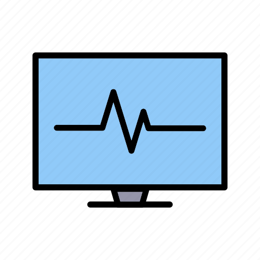 ecg, heart beat, pulse, pulse rate icon