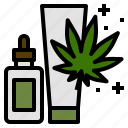 cannabis, cream, lotion, marijuana, medical, use icon