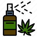 medical, spray, cannabis, dispenser, mouth, usage icon