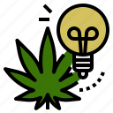 cannabis, creative, energy, idea, marijuana, sativa, weed icon