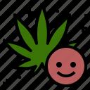 cannabis, good, happy, marijuana, mood icon