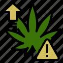 caution, danger, effect, marijuana, medical, overdose, side icon