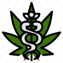 cannabis, doctor, hospital, marijuana, medical, use icon