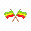 cartoon, culture, flag, jamaica, lion, rasta, rastafarian icon