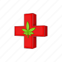 cannabis, cartoon, leaf, marijuana, medical, medicine, plant icon