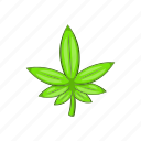 cartoon, green, illegal, leaf, marijuana, plant, weed icon