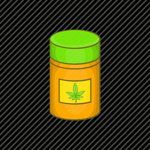 Addict, addiction, addictive, bottle, cannabis, cartoon, medicinal icon - Download on Iconfinder