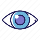 eye, eyeball, eyesight, iris, optical, see, vision icon